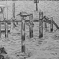 Dock Sketch by Megan Dirsa-DuBois