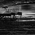 Dock Sunset Bw1 by Michael Thomas