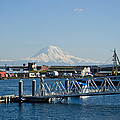 Dock View Of Mt. Rainier by Tikvah's Hope