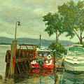 Docked Boats by Phyllis Tarlow