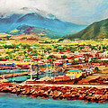 Docked In St. Kitts by Deborah Boyd