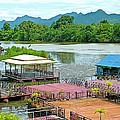 Docking Area On River Kwai In Kanchanaburi-thailand by Ruth Hager