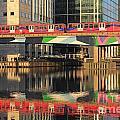 Docklands Railway London by Julia Gavin