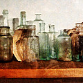 Doctor - Row Of Medicine Bottles by Susan Savad