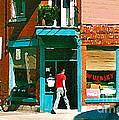 Documenting Vintage Montreal Depanneur Deli Wilensky Montreal Restaurant Paintings Cspandau  Art by Carole Spandau
