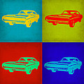 Dodge Charger Pop Art 2 by Naxart Studio
