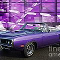 Dodge Rt Purple Abstract Background by Randy Harris