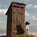 Dog Guarding An Outhouse by Daniel Eskridge