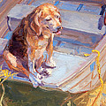 Dog On Boat by James Swanson