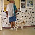 Dog Owner Dog Vet's Office Casa Grande Arizona 2004 by David Lee Guss