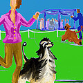 Dog Show Competitors by Terry  Chacon