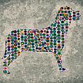 Dog Silhouette Digital Art by Georgeta Blanaru