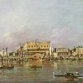 Doges Palace And View Of St. Marks Basin, Venice Oil On Canvas by Francesco Guardi
