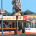 Doggie Diner 1986 by Wingsdomain Art and Photography