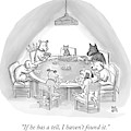 Dogs Playing Poker Refer Angrily To A Cat Who by Paul Noth