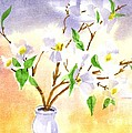 Dogwood In Watercolor by Kip DeVore