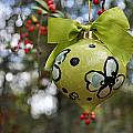 Dogwood Majolica Maiolica Ornament by Amanda  Sanford