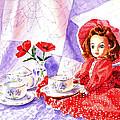 Doll At The Tea Party  by Irina Sztukowski