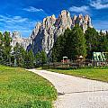 Dolomiti - Gardecia With Catinaccio Mount by Antonio Scarpi