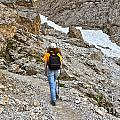 Dolomiti - Hiker In Val Setus by Antonio Scarpi