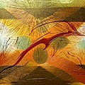 Dolphin Abstract - 2 by Kae Cheatham