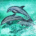 Dolphins  by Zaira Dzhaubaeva