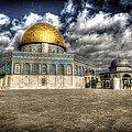 Dome Of The Rock Closeup Hdr by David Morefield