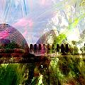 Domes And Abstract Paint by Anita Burgermeister