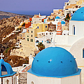 Domes Of Santorini by Brian Jannsen