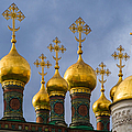 Domes Of The Church Of The Nativity Of Moscow Kremlin - Featured 3 by Alexander Senin