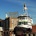 Domino Sugars Baltimore With A Boat by Cityscape Photography