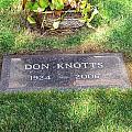 Don Knotts Grave by Jeff Lowe
