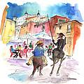 Don Quijote And Sancho Panza Entering Toledo by Miki De Goodaboom