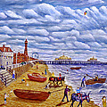 Donkey Rides On Blackpool Beach by Ronald Haber