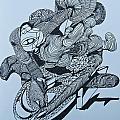 Doodle - 02 by James Lavott