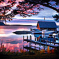 Door County Anderson Dock Sunset by Christopher Arndt