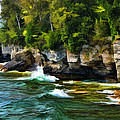 Door County Cave Point Cliffs by Christopher Arndt