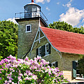 Door County Eagle Bluff Lighthouse Lilacs by Christopher Arndt
