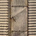 Door On An Old Metal Silo by Les Palenik