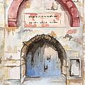 Door Series - Door 4 - Prison Of Apostle Peter Jerusalem Israel by Judith Rice