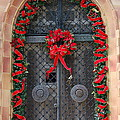 Door With Christmas Decoration  by Christiane Schulze Art And Photography