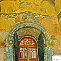 Doorway Entry To Cathedral Of The Archangel Inside Kremlin Walls In Moscow-russia by Ruth Hager