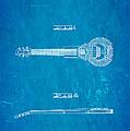 Dopyera Dobro Hawaiian Lap Steel Guitar Design Patent Art 1939 Blueprint by Ian Monk