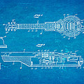 Dopyera Dobro Hawaiian Lap Steel Guitar Patent Art 1939 Blueprint by Ian Monk