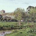 Dorchester Abbey, Near Wallingford, Autumn Evening by Newton Bennett