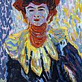 Doris With Ruff Collar by Ernst Ludwig Kirchner