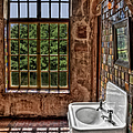 Dorm Bathroom Side View by Susan Candelario