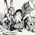 Dormouse In The Teapot Mad Tea Party by John Tenniel