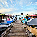 Dory Fishing Fleet Newport Beach California by Paul Velgos