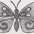 Dotted Butterfly by Jill Christensen